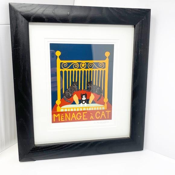 Menage a Cat Framed Art Print by S. Huneck '04